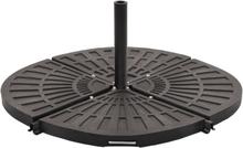 vidaXL Viktplatta för parasoll svart solfjäderformad 20 kg
