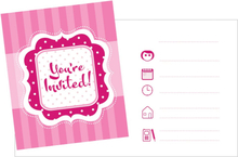 Inbjudningskort rosa You re Invited - 8 st
