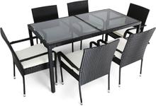 Matgrupp utemöbler   6 stolar   Dynor ingår