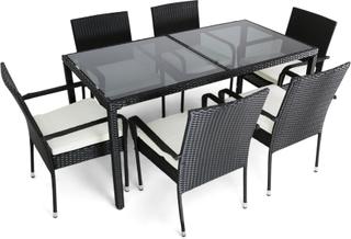 Matgrupp utemöbler | 6 stolar | Dynor ingår