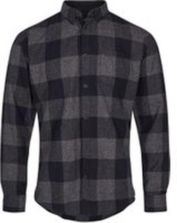 Koksgrå Solid Scott Rutet Skjorte Skjorte