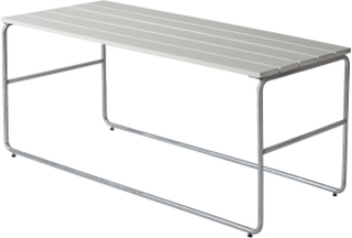 Soffbord L110 Vitlackad ek/galvat 110x50 cm