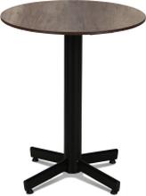 Classic cafébord Svart med laminatskiva 60 cm