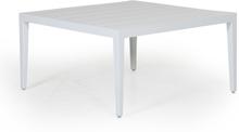 Mackenzie soffbord Vit med aluminiumtop 77x77 cm