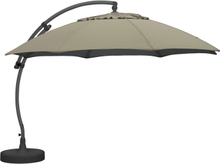 Easy sun parasoll Antracit/sand Frihängande 3,75 m