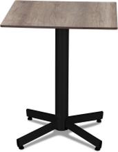 Classic cafébord Svart med laminatskiva 60x60 cm