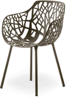 Forest karmstol Metallic grå