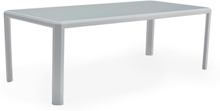 Sun matbord Vit med glasskiva 100X220X75