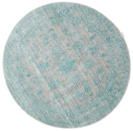 Maharani - Grå / Blå matta Ø 150 Modern, Rund Matta