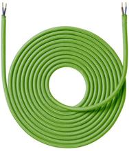 Nielsen Light tygledning 2x0,75 mm², 4 meter, limegrøn