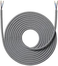 Nielsen Light tygledning 2x0,75 mm², 4 meter, svart/vit