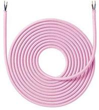 Nielsen stoffledning 2x0,75 mm², 4 meter, rosa