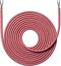 Nielsen Light tygledning Zig/Zag 2x0,75 mm², 4 meter, röd