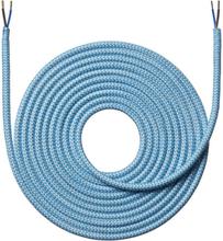 Nielsen stoffledning Zig/Zag 2x0,75 mm², 4 meter, lyseblå