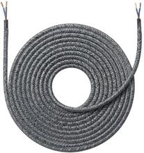 Nielsen stoffledning 2x0,75 mm², 4 meter, melert grå