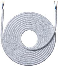 Nielsen Light tygledning melerad 2x0,75 mm², 4 meter, skinande vit