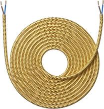 Nielsen stoffledning 2x0,75 mm², 4 meter, skinnende gull