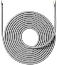 Nielsen LIght tygledning 2x0,75 mm², 4 meter, ljusgrå