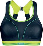 Kampanj! Ultimate Run Bra, Black/Lime, 70DD/E