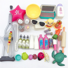 Mix Doll Furniture Play Toy Biscuits cakes shells Bag Hanger Accessories For 18 Inch dolls New Born Toys Play House