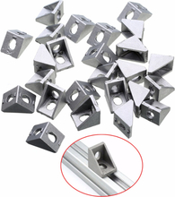 25pcs Durable Silver Aluminum 2020 Corner Bracket 20x20x17mm Solid Cast For 20mm Extrusion CNC Routers