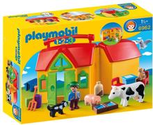 Playmobil 1.2.3 - Mobil bondgård med djur 6962
