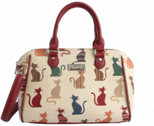 Håndtaske med skulderrem, Bowl, Cheeky cat