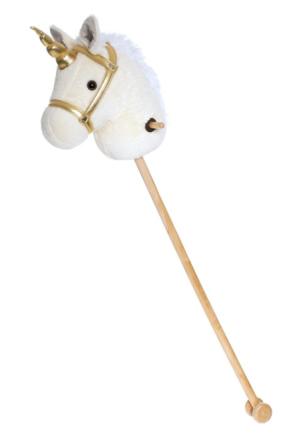 Teddykompaniet - Käpphäst, vit enhörning 100 cm