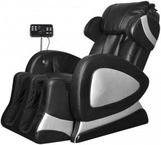 Massagefåtölj med superskärm svart konstläder