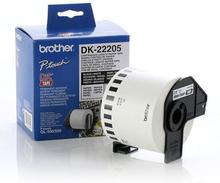 Papir I baner til printere Brother DK22205 Hvid