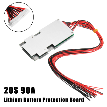 20S 72V 90A BMS PCM Protection PCB for Li-ion 18650 Battery With BALANCE Charge Accessories