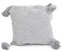 PomPom tyynynpäällinen | Vaaleanharmaa - 50x50cm
