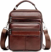 JackKevin Genuine Leather Men Handbag Shoulder Bag Hot Sale Cow Leather Bag Vintage Casual Style Flap Bags Men's Crossbody Bag