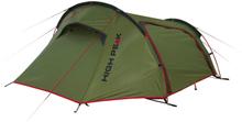 High Peak Sparrow 2 Teltta, olive/red 2020 Tunneliteltat
