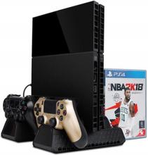 Monitoiminen PS4-teline tuulettimella, latausasemalla ja säilytystilalla