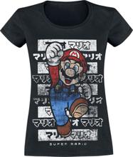 Super Mario - Mario - Kanto -T-skjorte - svart