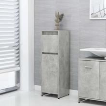 Badeværelsesskab 30x30x95 cm spånplade betongrå