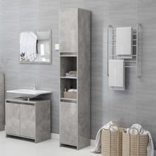Badeværelsesskab 30x30x183,5 cm spånplade betongrå