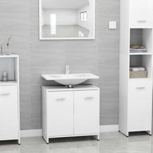 Badeværelsesskab 60x33x58 cm spånplade hvid
