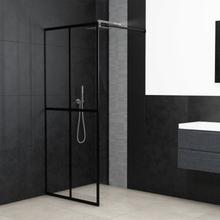 vidaXL Duschvägg till duschkabin härdat glas 118x190 cm