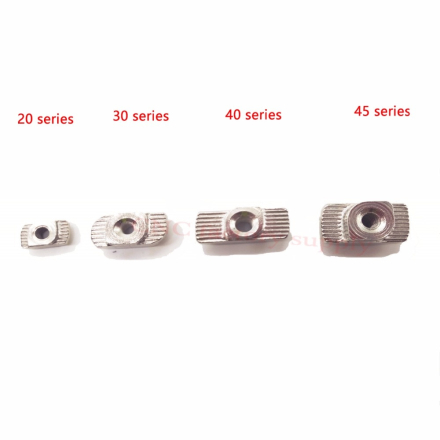 HOT Carbon steel T type Nuts Fastener Aluminum Connector M3 M4 M5 For EU Standard 2020 Industrial Aluminum Profile for Kossel