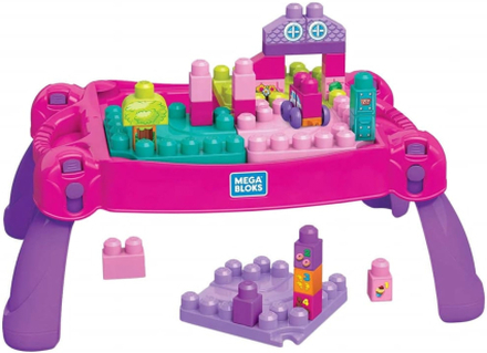 Fisher-Price Fisher Price, Build and Learn Table Byggsats - Rosa