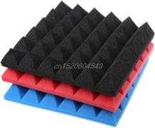 30x30x5cm Soundproofing Foam Studio Acoustic Sound Treatment Absorption Wedge Tile R06 Drop Ship
