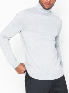 New Look Smart Roll Neck New Tröjor Pale Grey