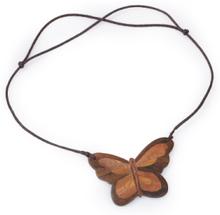 Halsband en fjäril trä från Peter Hahn brun
