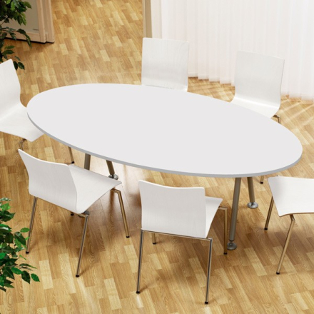 Konferencebord Consensus Hvid laminat 2000x1200mm