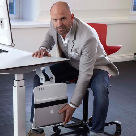 Laptophållare Twist-it Silvergrå