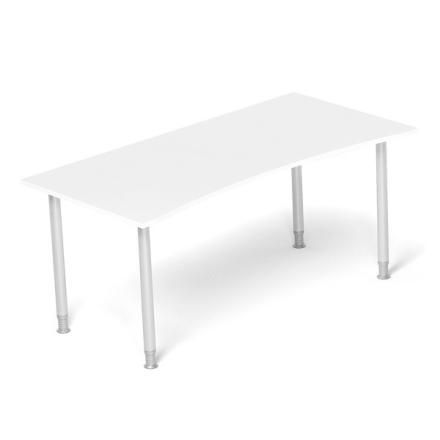 Skrivebord Profi 70 Hvid 1800x900mm I-ben