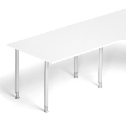 Skrivebord tilbyg Profi Hvid 1200x800mm