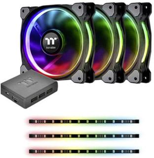 Thermaltake Riing Plus 12 RGB Kit PC-kabinet-blæser Sort, RGB (B x H x T) 120 x 120 x 25 mm